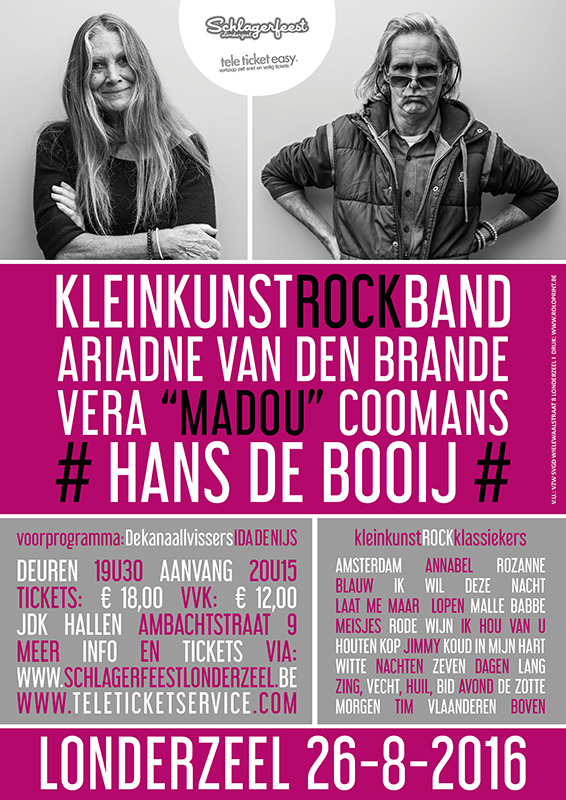 Affiche A3 Kleinkunst Rock Band 2016